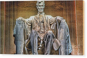 Abraham Lincoln Wood Print by Marvin Blaine