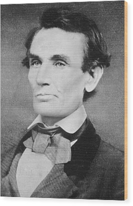 Abraham Lincoln Wood Print by Unknown