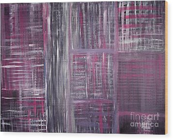 Abstract #1 Wood Print by Angela Bruno