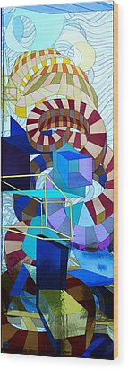 Abstract Art Stained Glass Wood Print by Mountain Dreams