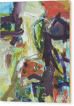 Abstract Cow Wood Print by Robert Joyner
