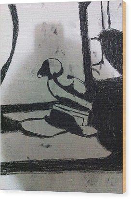 Abstract Drawing Wood Print by Khoa Luu