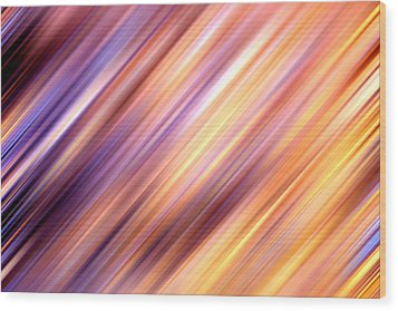 Abstract  Wood Print by Les Cunliffe