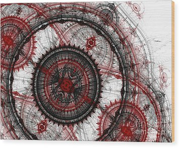 Abstract Mechanical Fractal Wood Print by Martin Capek