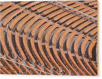 Abstract Pattern - Rows Of The Stadium's Seats Wood Print