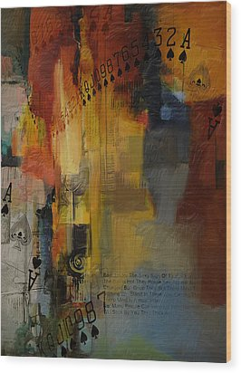 Abstract Tarot Art 013 Wood Print by Corporate Art Task Force