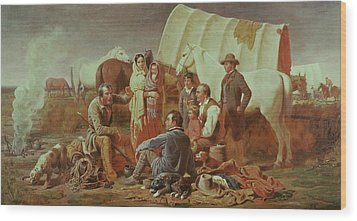 Advice On The Prairie  Wood Print by William Tylee Ranney