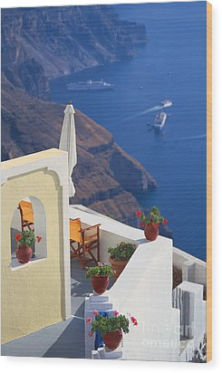 Aegean View Wood Print by Aiolos Greek Collections