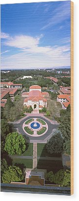 Aerial View Of Stanford University Wood Print by Panoramic Images