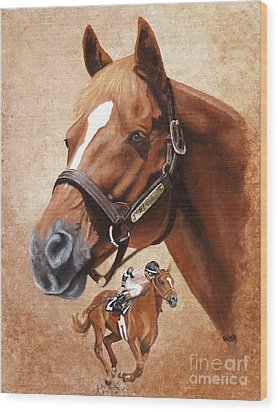 Affirmed Wood Print by Pat DeLong