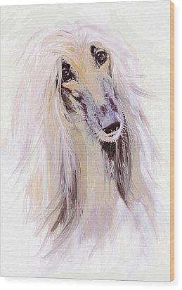 Afghan Hound Wood Print by Jane Schnetlage