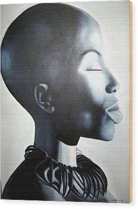 African Elegance - Original Artwork Wood Print