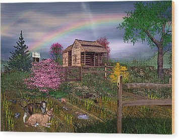 After The Storm Wood Print by Mary Almond