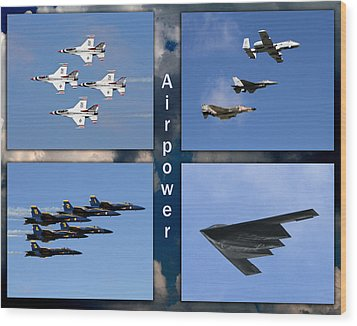 Air Power Wood Print