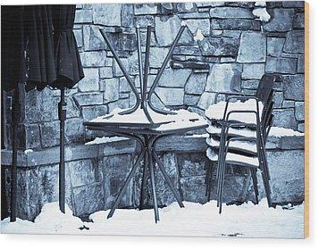 Al Fresco Wood Print by Denice Breaux
