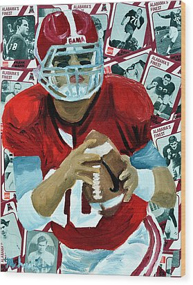 Alabama Quarter Back #10 Wood Print by Michael Lee
