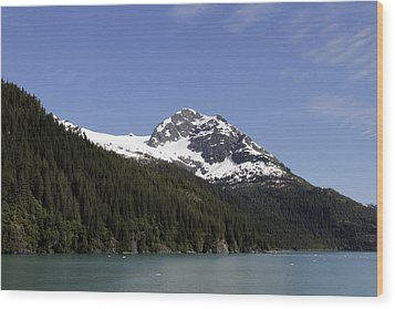 Alaska Sea-landscape Wood Print