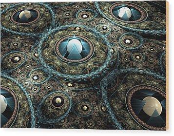 Alien Station Wood Print
