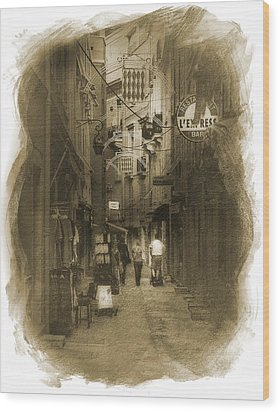 Wood Print featuring the photograph Alley by Cecil Fuselier