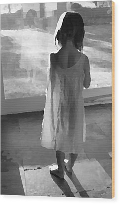 Alone Wood Print by Brooke T Ryan