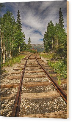 Along Boreas Pass Wood Print by Christopher L Nelson