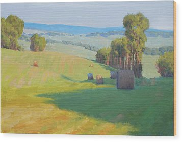 Along Rectortown Road Wood Print by Armand Cabrera