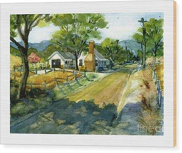 Along Stoney Creek Road Wood Print