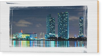 American Airlines Arena And Condominiums Wood Print by Carsten Reisinger