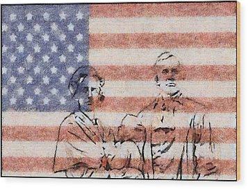 American Patriots Wood Print by Dan Sproul