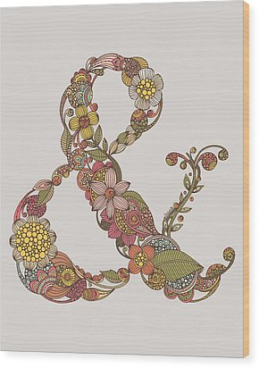 Ampersand Wood Print by Valentina