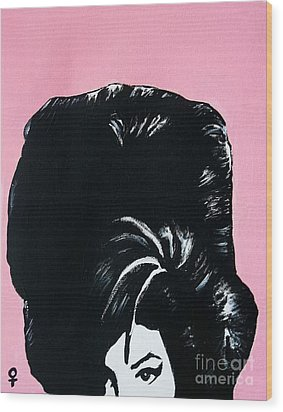 Amy Winehouse Wood Print by Venus