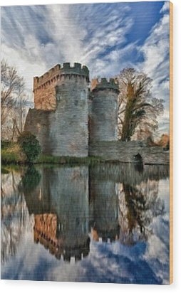 Ancient Whittington Castle In Shropshire England Wood Print