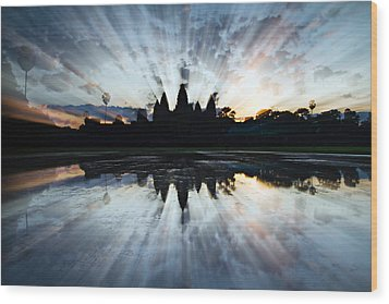 Angkor Wat Wood Print by Brad Grove