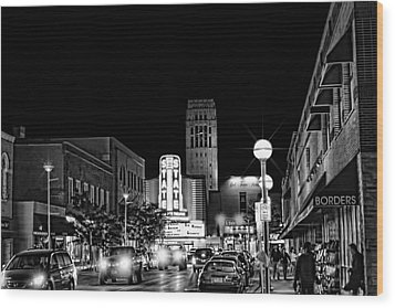 Ann Arbor Nights Wood Print