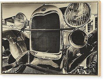 Antique Ford Car Wood Print