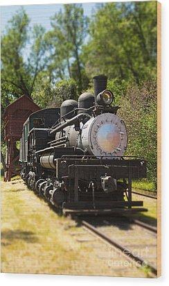 Antique Locomotive Wood Print by Jane Rix