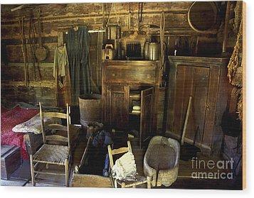 Appalachian Mountain Log Cabin Wood Print by Paul W Faust -  Impressions of Light