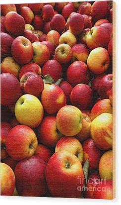 Apples Wood Print by Olivier Le Queinec