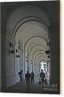 Arches Of Stone Wood Print by ELDavis Photography
