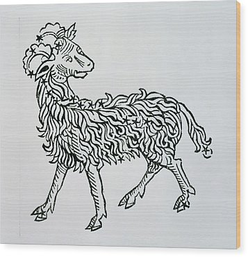 Aries An Illustration From The Poeticon Wood Print by Italian School