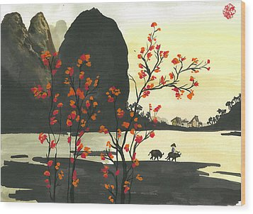 Arrival Of Spring Wood Print by Amberlyn How