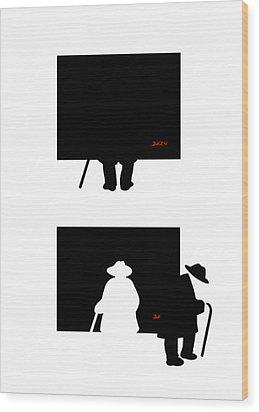 Wood Print featuring the digital art Arthur by Tom Dickson