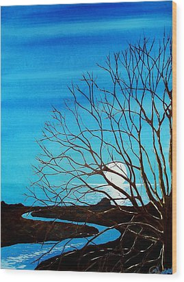 As Nite Rolls In Wood Print