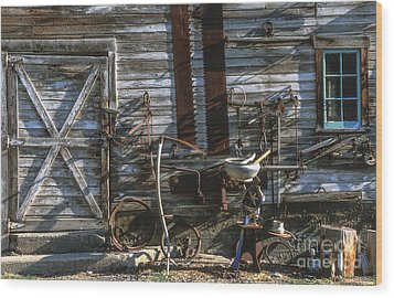 As Time Goes By Wood Print by Sandra Bronstein