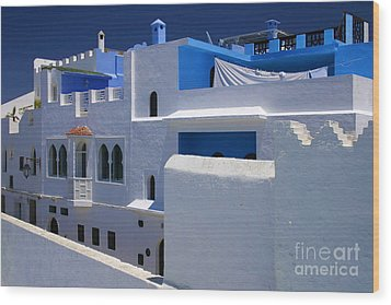 Wood Print featuring the photograph Asilah Meaning Authentic In Arabic Fortified Town On Northwest Tip Of Atlantic Coast Of Morocco by Ralph A  Ledergerber-Photography