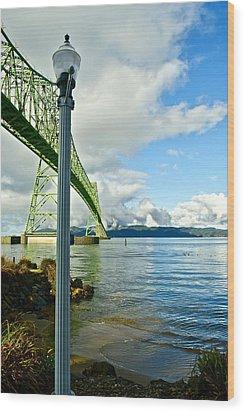 Astoria Bridge Wood Print by Rae Berge