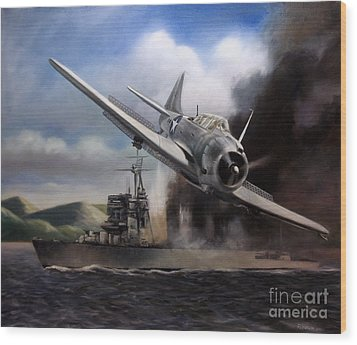 Wood Print featuring the painting Attack On The Yura by Stephen Roberson