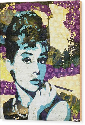 Audrey All Day Wood Print by Bobby Zeik