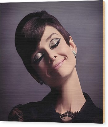 Audrey Hepburn Wood Print by Mountain Dreams