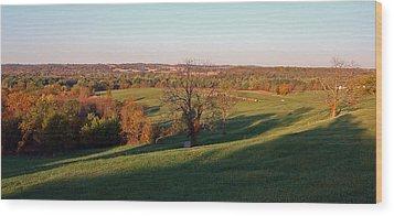 Autumn Countryside Wood Print